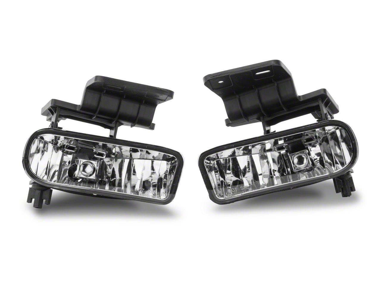 Axial Clear OE Style Fog Lights w/o Wiring Harness - Pair (99-02 Silverado 1500)