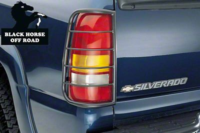 Black Horse Off Road Tail Light Guards - Black (99-06 Silverado 1500 Fleetside)