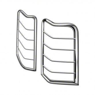 Black Horse Off Road Tail Light Guards - Stainless Steel (99-06 Silverado 1500 Fleetside)