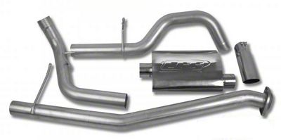 CGS Motorsports Aluminized Single Exhaust System - Side Exit (02-06 4.3L Silverado 1500)