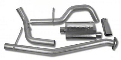 CGS Motorsports Aluminized Single Exhaust System - Side Exit (02-06 4.8L Silverado 1500)