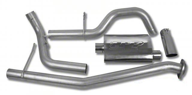 CGS Motorsports Aluminized Single Exhaust System - Side Exit (02-06 4.8L Silverado 1500)