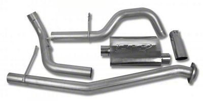 CGS Motorsports Aluminized Single Exhaust System - Side Exit (02-06 5.3L Silverado 1500)