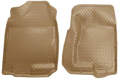Husky Classic Front Floor Liners - Tan (99-06 Silverado 1500 Extended Cab, Crew Cab)