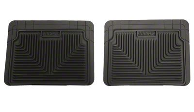 Husky Heavy Duty 2nd Row Seat Floor Mats - Black (99-06 Silverado 1500 Extended, Crew Cab)
