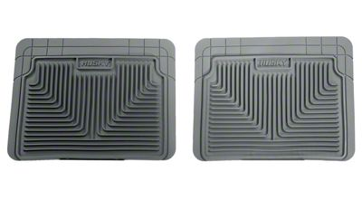 Husky Heavy Duty 2nd Row Seat Floor Mats - Grey (99-06 Silverado 1500 Extended, Crew Cab)