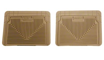 Husky Heavy Duty 2nd Row Seat Floor Mats - Tan (99-06 Silverado 1500 Extended, Crew Cab)