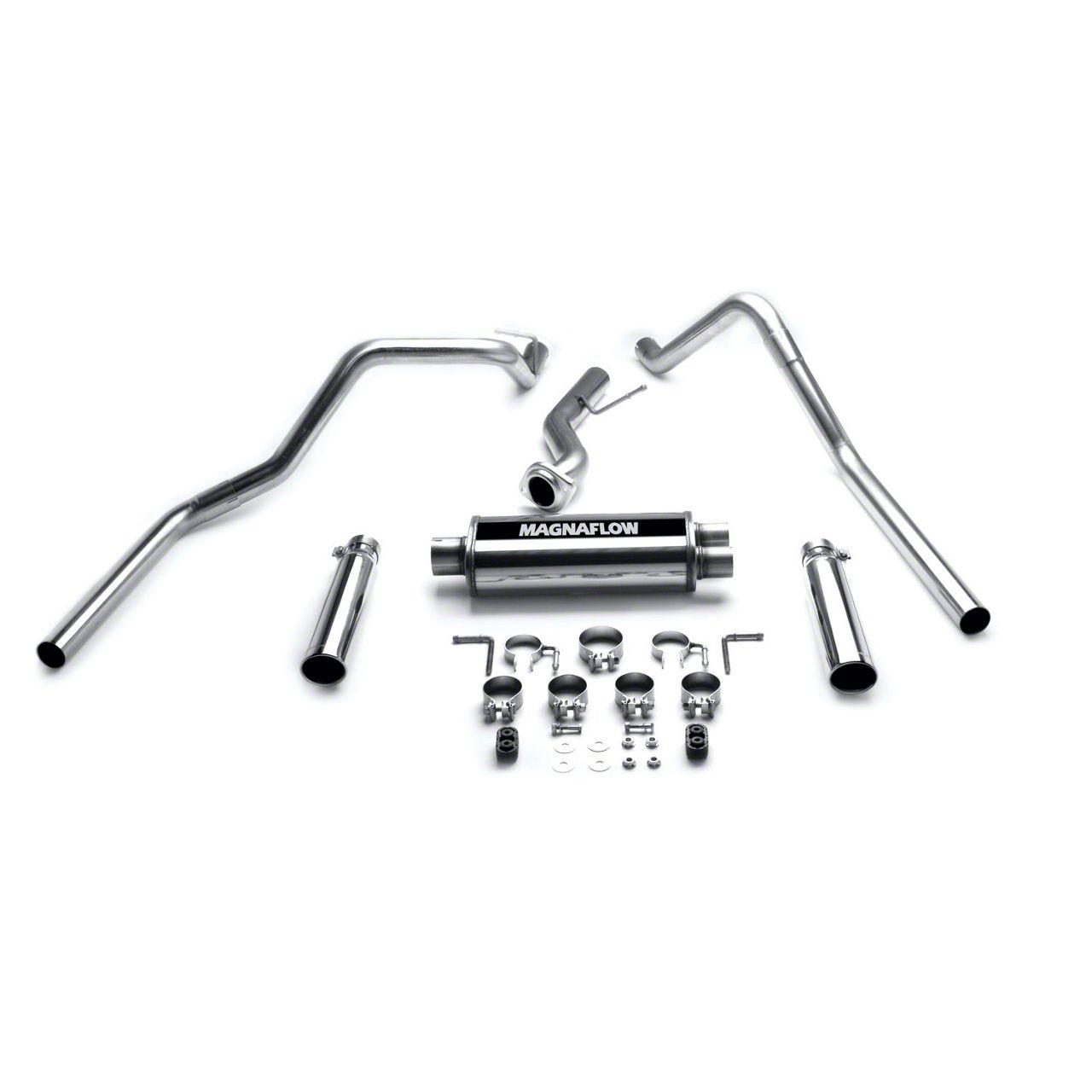 Magnaflow MF Series Dual Exhaust System - Rear Exit (99-06 4.3L Silverado 1500)