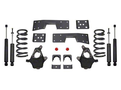 Max Trac Lowering Kit w/ Maxtrac Shocks - 3 in. Front / 5 in. Rear (99-06 2WD V6 Silverado 1500)