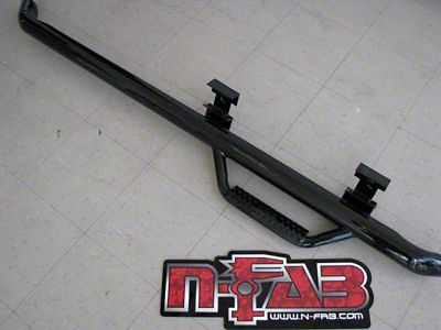 N-Fab Cab Length Nerf Side Step Bars - Textured Black (99-06 Silverado 1500 Regular Cab, Crew Cab)