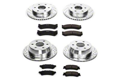 Power Stop Z23 Evolution Sport 6-Lug Brake Rotor & Pad Kit - Front & Rear (99-06 Silverado 1500 w/o Rear Drum Brakes)