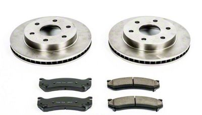 Power Stop OE Replacement 6-Lug Brake Rotor & Pad Kit - Front (99-06 Silverado 1500)
