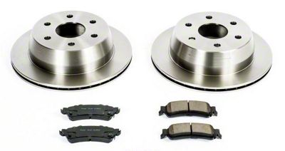 Power Stop OE Replacement 6-Lug Brake Rotor & Pad Kit - Rear (99-06 Silverado 1500 w/o Rear Drum Brakes)