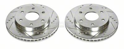 Power Stop Evolution Cross-Drilled & Slotted 6-Lug Rotors - Front Pair (99-06 Silverado 1500 w/o Rear Drum Brakes)
