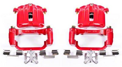 Power Stop Performance Rear Brake Calipers - Red (03-06 Silverado 1500 w/o Rear Drum Brakes)