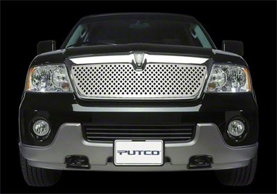 Putco Designed FX Diamond Upper Overlay Grille - Polished (01-02 Silverado 1500)