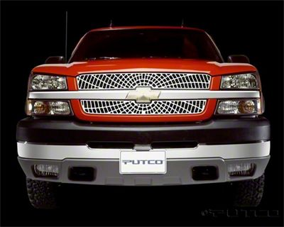 Putco Liquid Spider Web Upper Overlay Grilles - Polished (03-05 Silverado 1500)