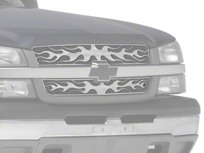Putco Flaming Inferno Stainless Steel Upper Overlay Grilles - Polished (03-05 Silverado 1500)