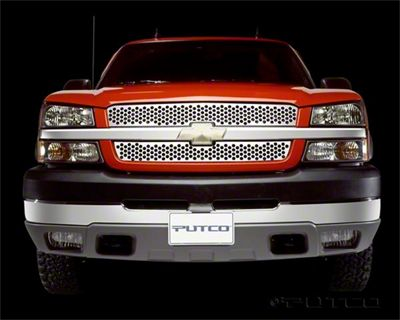 Putco Punch Stainless Steel Upper Overlay Grilles - Polished (03-05 Silverado 1500)