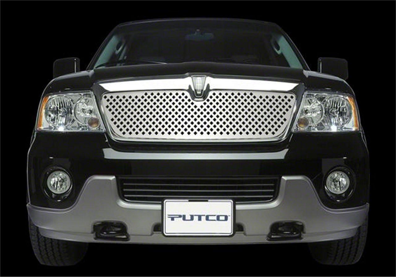 Putco Designer FX Diamond Upper Overlay Grille - Polished (99-00 Silverado 1500)