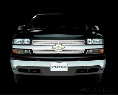 Putco Liquid Billet Upper Overlay Grilles - Polished (99-00 Silverado 1500)