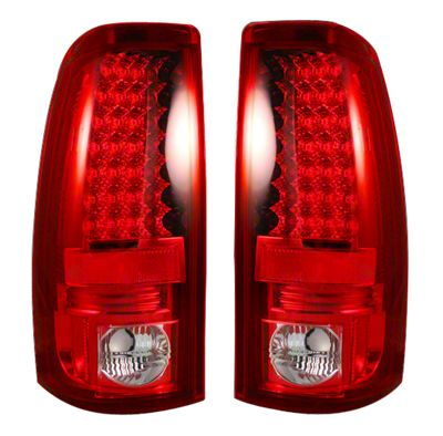 Recon LED Tail Lights - Red Lens (99-06 Silverado 1500 Fleetside)