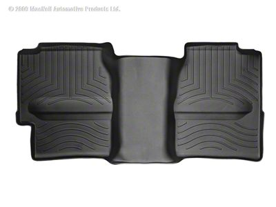 Weathertech DigitalFit Rear Floor Liner w/ Underseat Coverage - Black (99-06 Silverado 1500 Extended Cab)