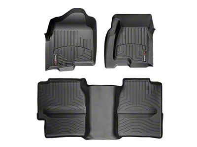 Weathertech DigitalFit Front & Rear Floor Liners w/ Underseat Coverage - Black (99-06 Silverado 1500 Extended Cab)