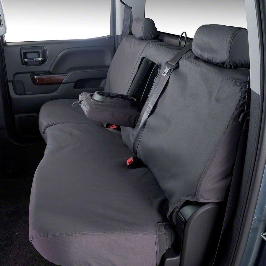 Covercraft SeatSaver Second Row Seat Cover - Polycotton Gray (99-06 Silverado 1500 Extended Cab, Crew Cab)