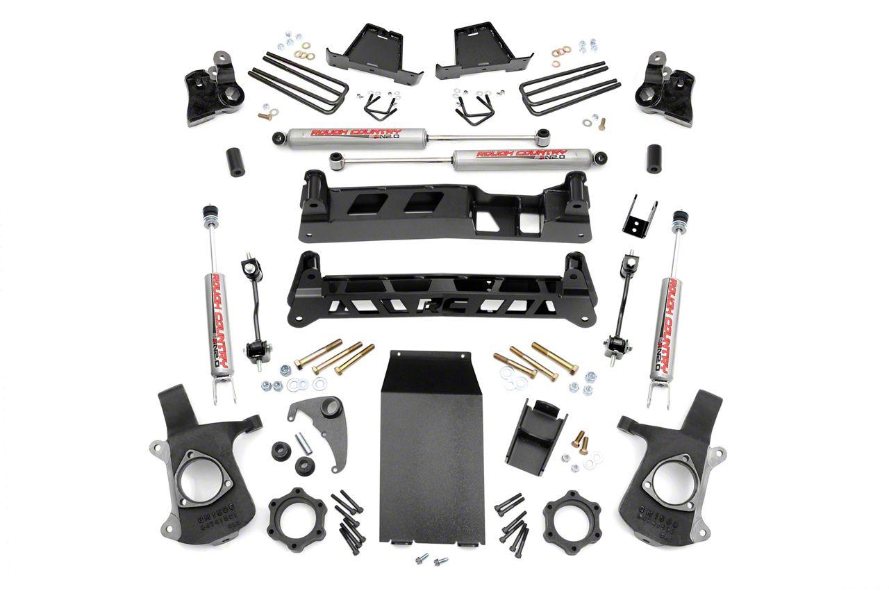 Rough Country 6 in. Non-Torsion Drop Suspension Lift Kit (99-06 4WD Silverado 1500)