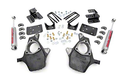 Rough Country Spindle Lowering Kit - 2 in. Front / 4 in. Rear (99-06 2WD Silverado 1500)