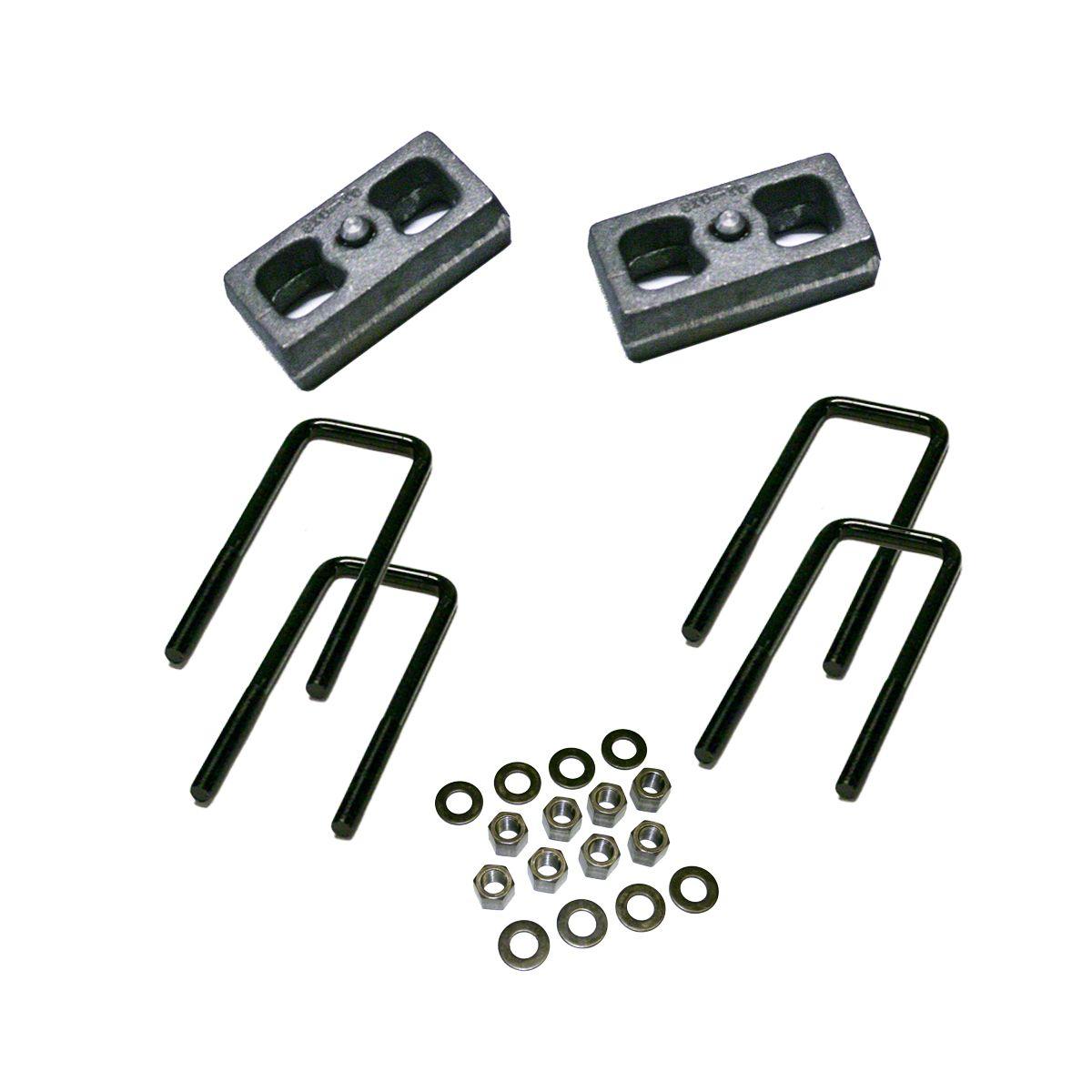 SuperLift 2 in. Rear Lift Block Kit (99-10 4WD Silverado 1500)