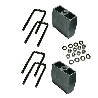 SuperLift 5 in. Rear Lift Block Kit (99-10 4WD Silverado 1500)