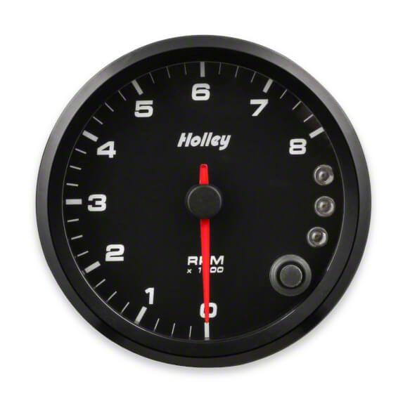 Holley Performance 3-3/8 in. Analog-Style 0-8K Tachometer - Black (99-18 Silverado 1500)