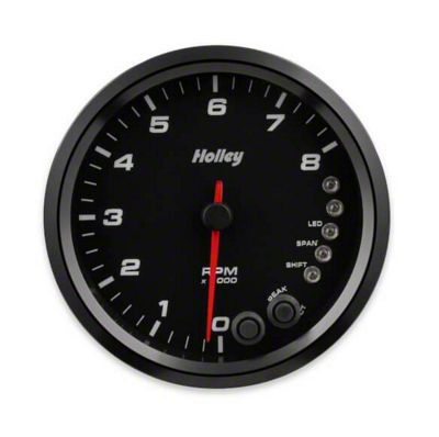 Holley Performance 4.5 in. Analog-Style 0-8K Tachometer - Black (99-18 Silverado 1500)