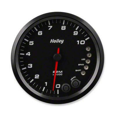Holley Performance 4.5 in. Analog-Style 0-10K Tachometer - Black (99-18 Silverado 1500)
