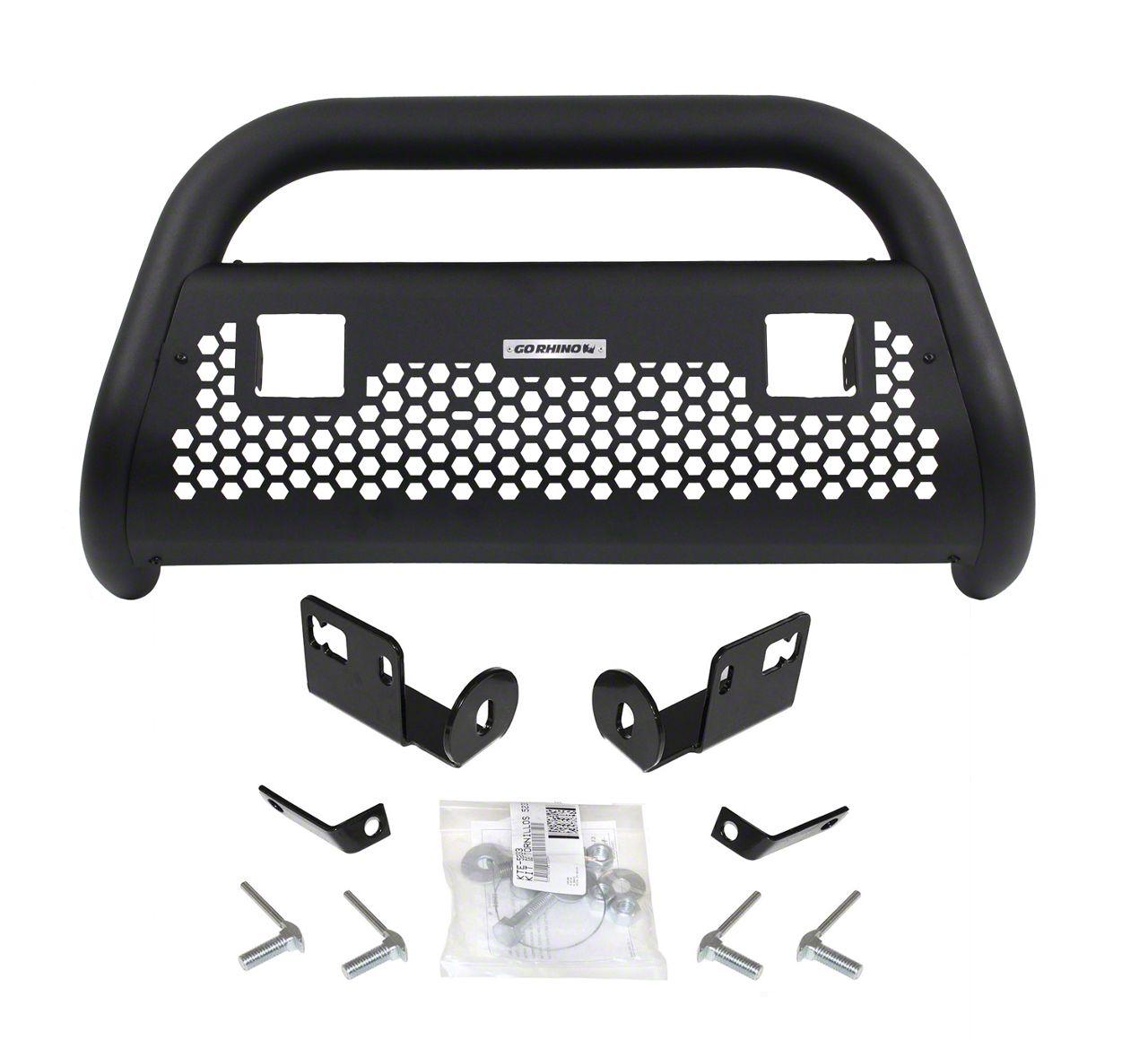Go Rhino RC2 LR Bull Bar w/ Two LED Cube Light Mounting Brackets - Textured Black (16-18 Silverado 1500)
