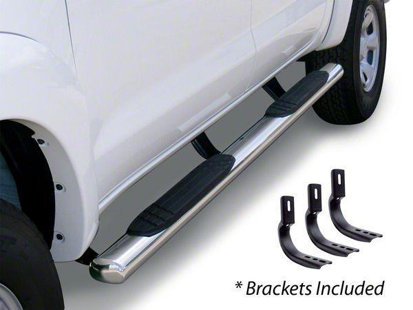 Go Rhino 4 in. OE Xtreme Side Step Bars - Stainless Steel (14-18 Silverado 1500 Crew Cab)