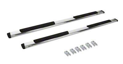 Go Rhino 5 in. OE Xtreme Low Profile Side Step Bars - Stainless Steel (07-13 Silverado 1500 Crew Cab)