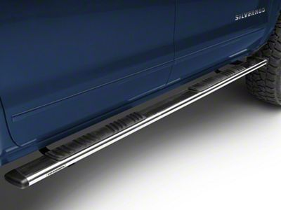 Go Rhino 5 in. OE Xtreme Low Profile Side Step Bars - Stainless Steel (14-18 Silverado 1500 Crew Cab)