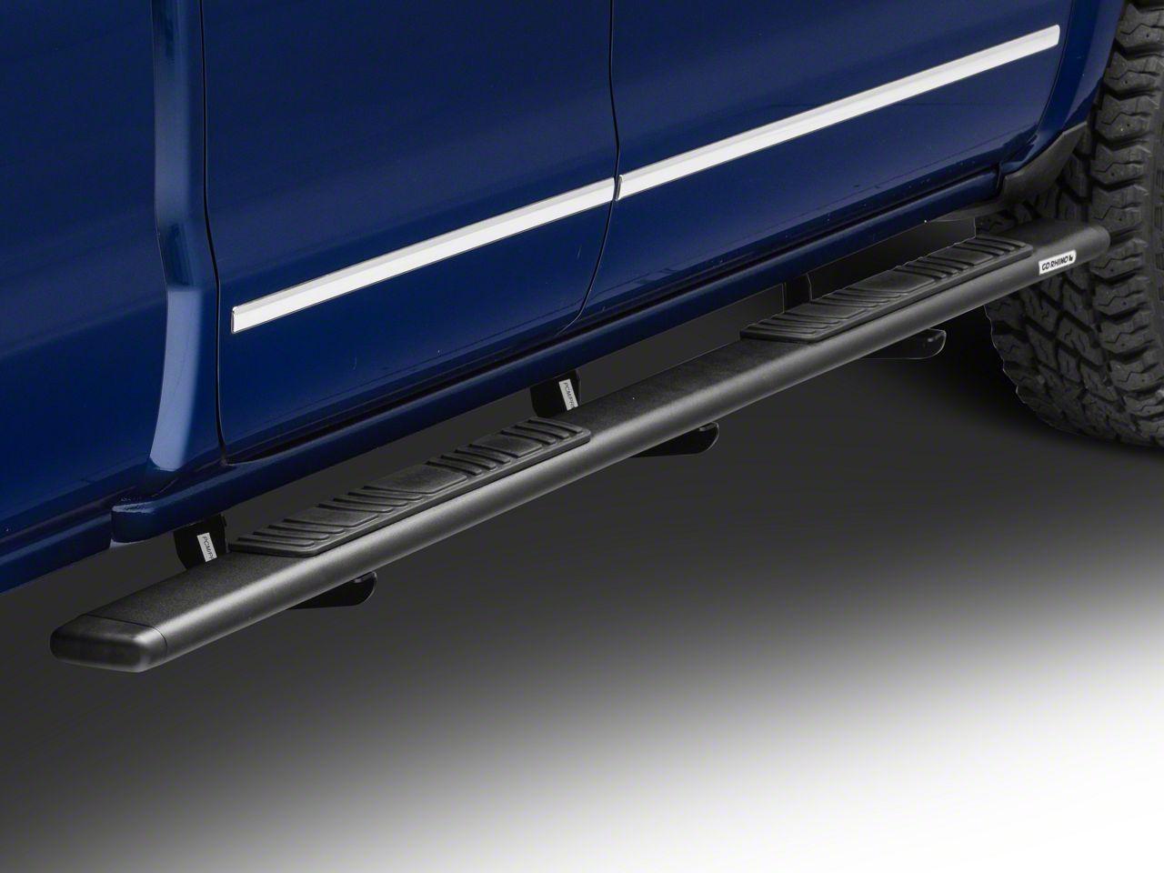 Go Rhino 5 in. OE Xtreme Low Profile Side Step Bars - Textured Black (14-18 Silverado 1500 Crew Cab)