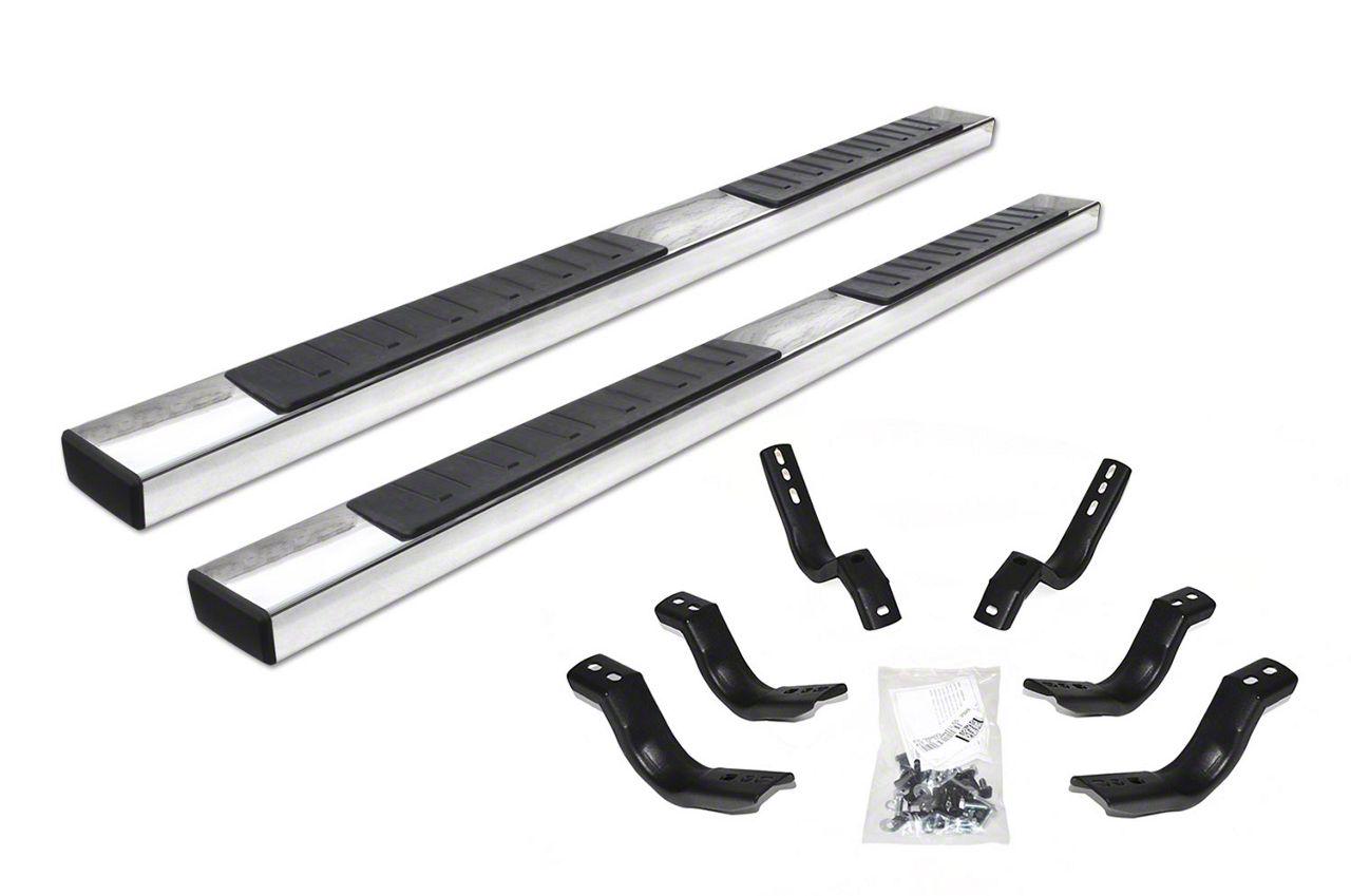 Go Rhino 6 in. OE Xtreme II Side Step Bars - Stainless Steel (14-18 Silverado 1500 Crew Cab)