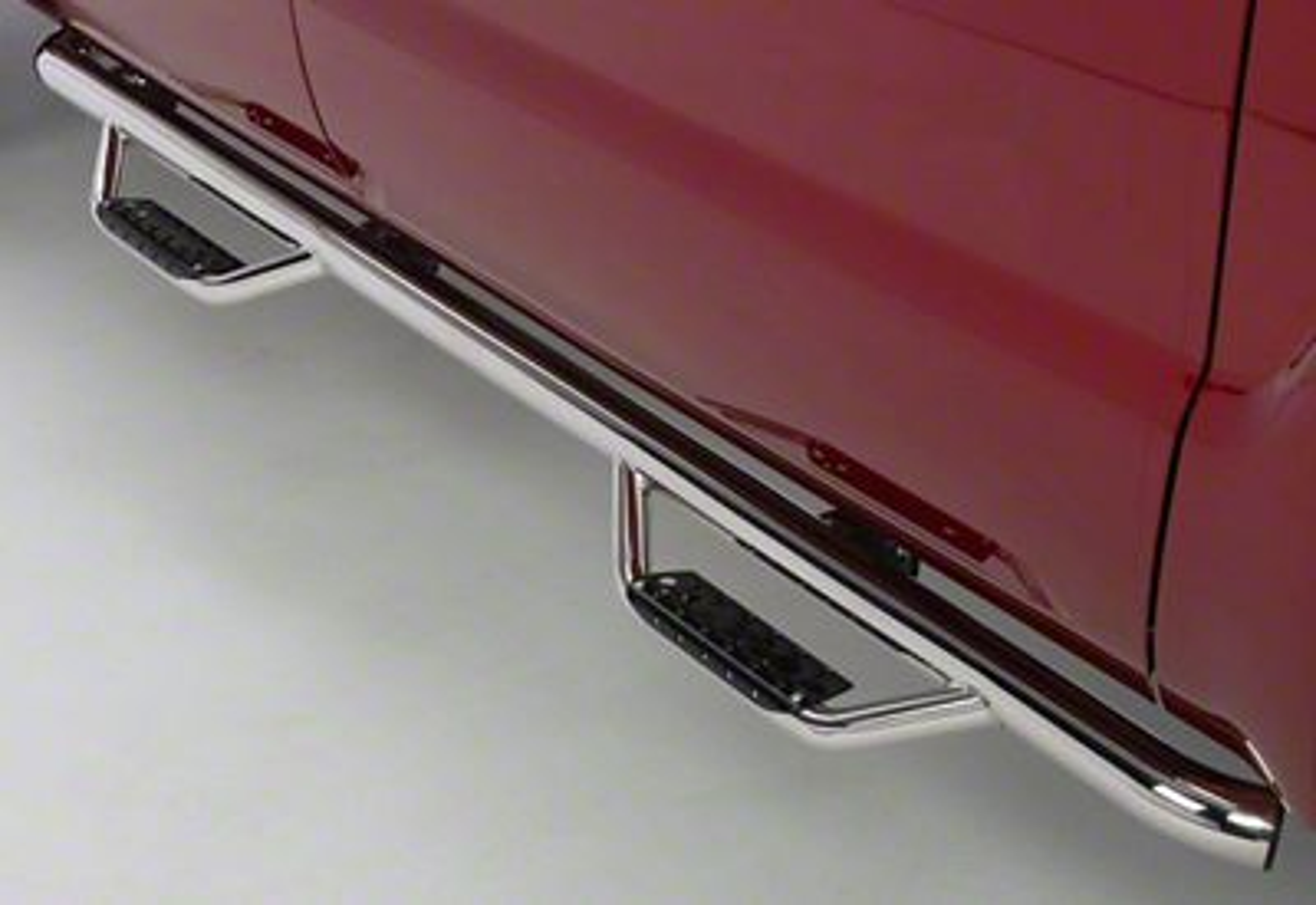 Go Rhino Dominator D2 Cab Length Side Step Bars - Stainless Steel (07-13 Silverado 1500 Crew Cab)