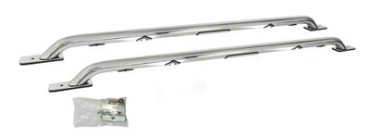 Go Rhino LED Bed Rails - Polished (14-18 Silverado 1500 Crew Cab)