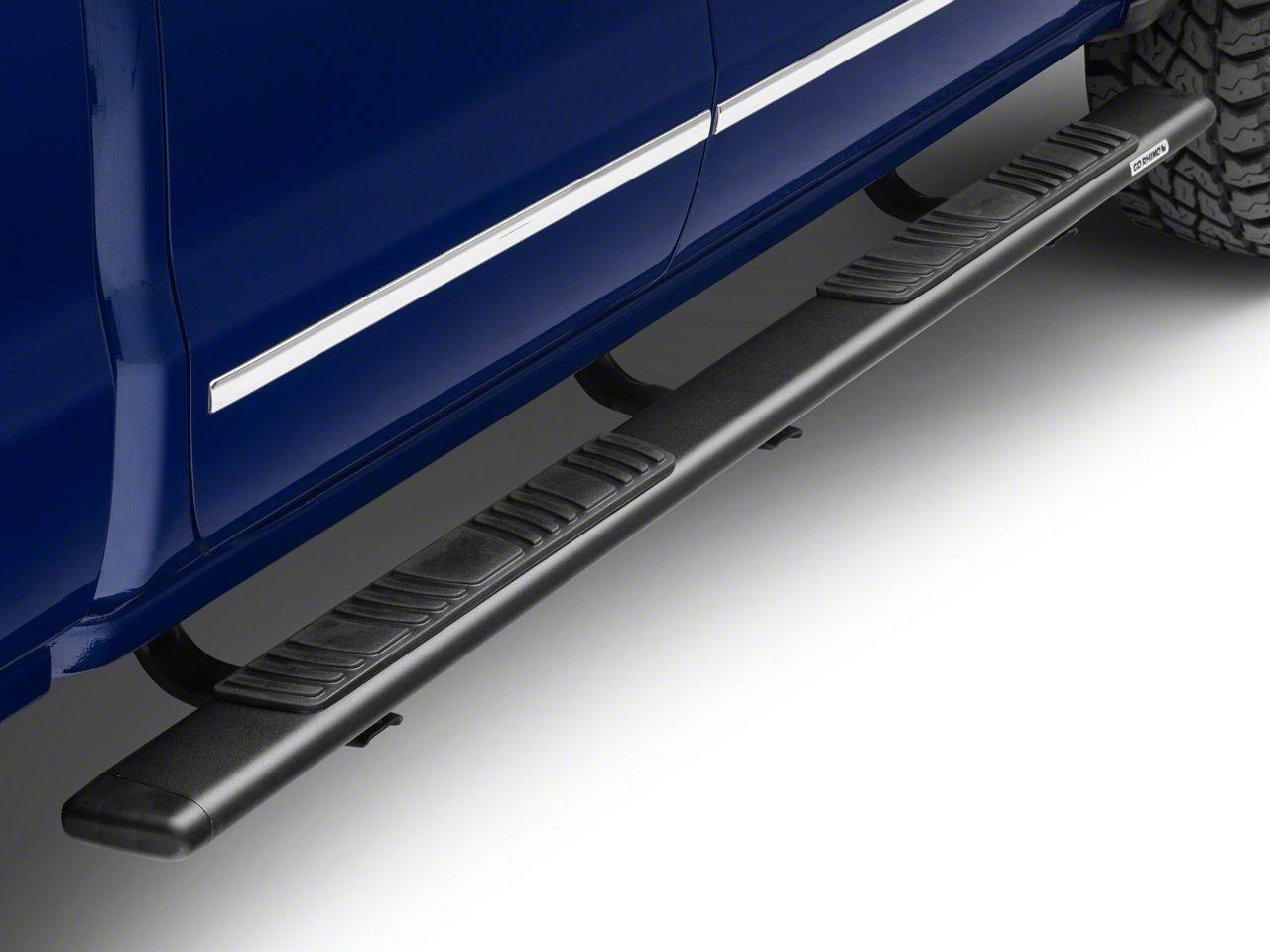 Go Rhino 5 in. OE Xtreme Low Profile Side Step Bars - Textured Black (14-18 Silverado 1500 Double Cab)