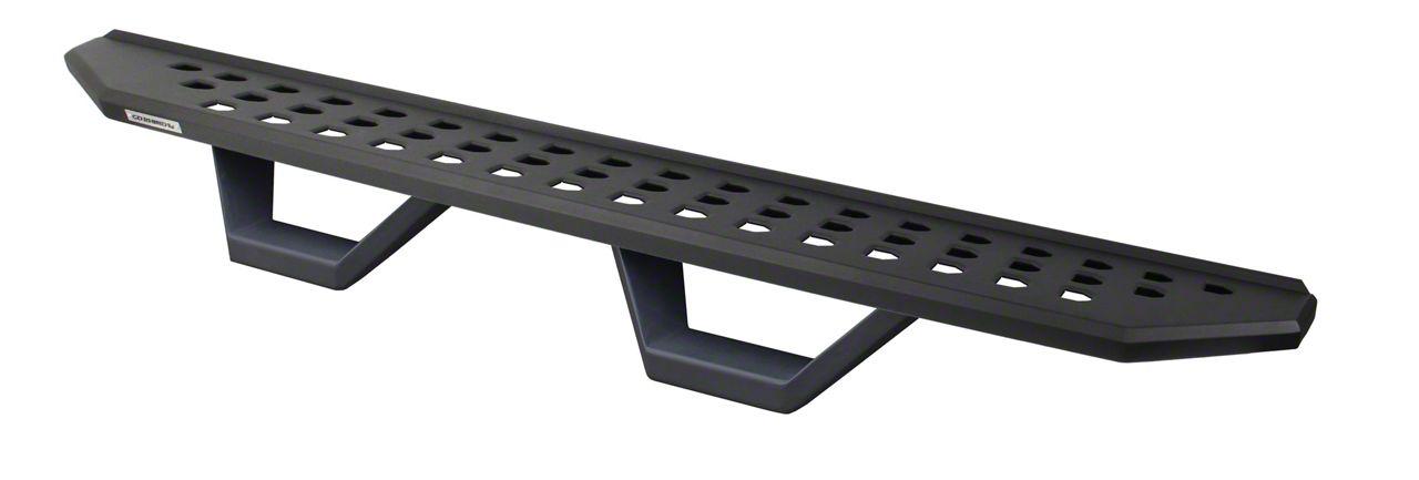Go Rhino RB20 Running Boards w/ Drop Steps - Textured Black (14-18 Silverado 1500 Double Cab)