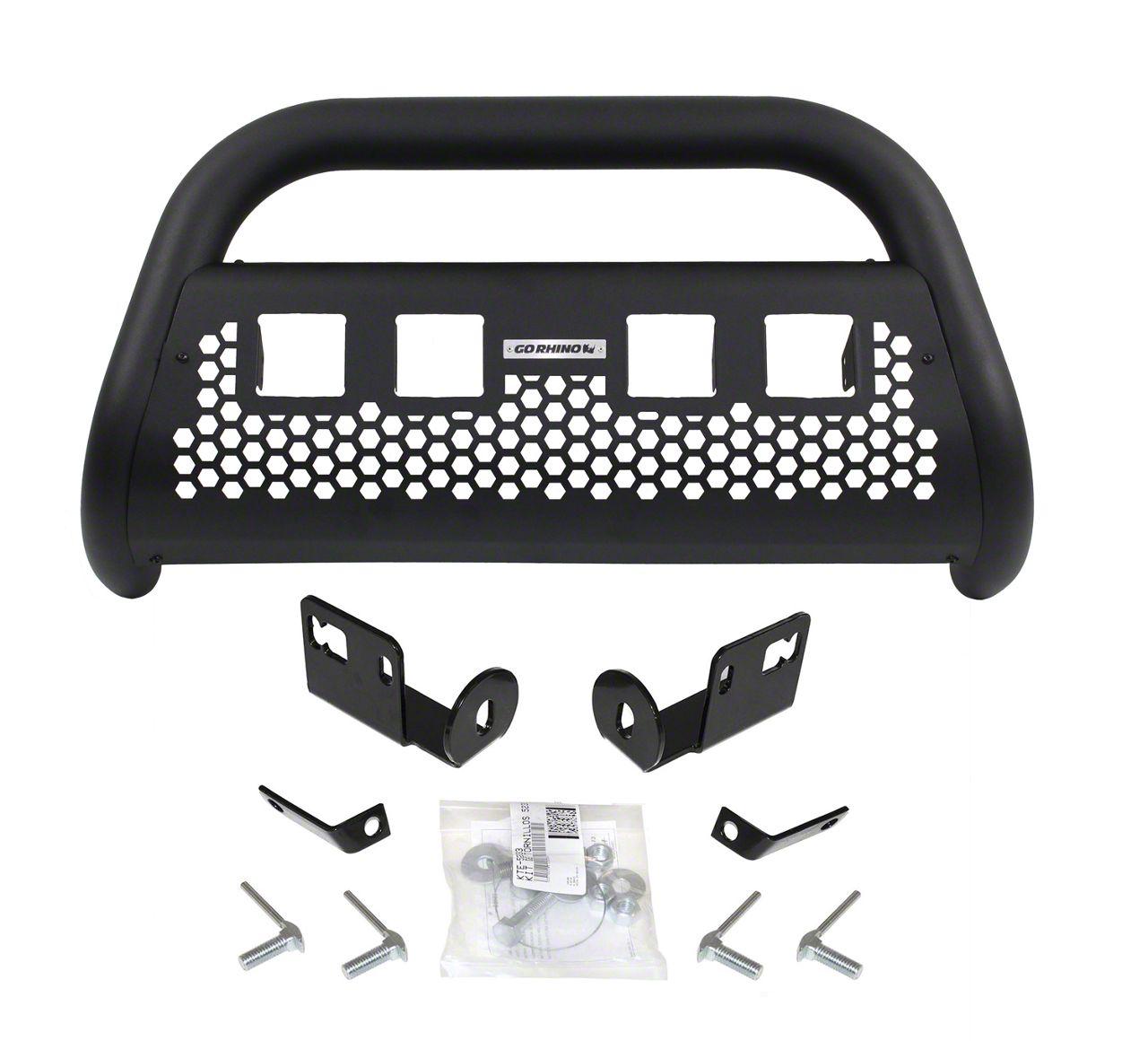 Go Rhino RC2 LR Bull Bar w/ Four LED Cube Light Mounting Brackets - Textured Black (07-13 Silverado 1500)
