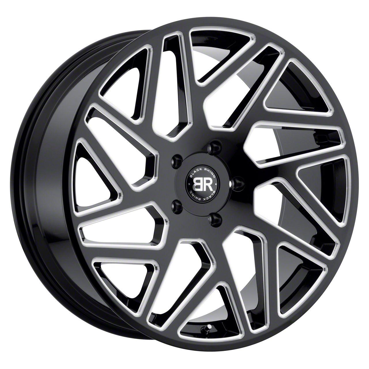 Black Rhino Cyclone Gloss Black Milled 6-Lug Wheel - 24x10 (99-19 Silverado 1500)