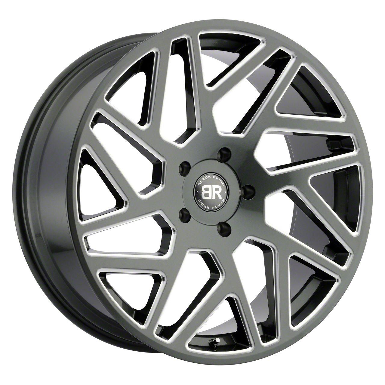 Black Rhino Cyclone Gloss Titanium Milled 6-Lug Wheel - 20x9 (99-19 Silverado 1500)
