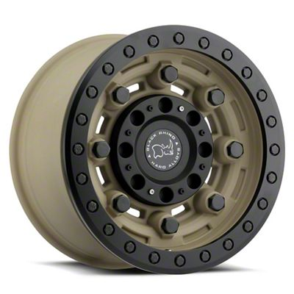 Black Rhino Garrison Desert w/Matte Black 6-Lug Wheel - 17x8.5 (99-19 Silverado 1500)